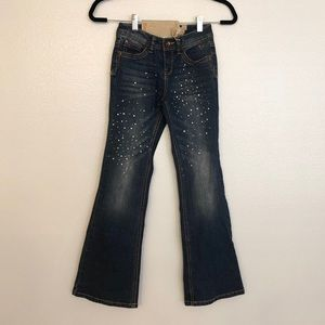 NWT Justice Size 10 Rhinestone Gem Flare Jeans